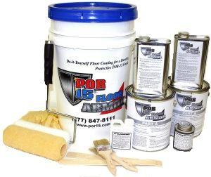 Por15 Basic Floor Kit-800 SQ FT-Dark Gray